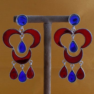 Beautiful Silver Earrings With Stones