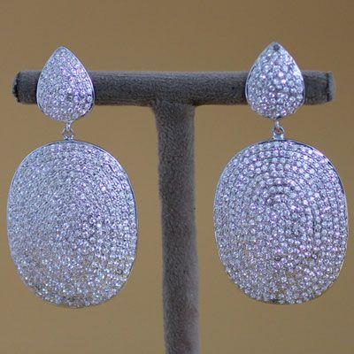 STERLING SILVER EARRING WITH ZIRCON