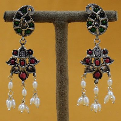 Pure Silver Earrings For Girl