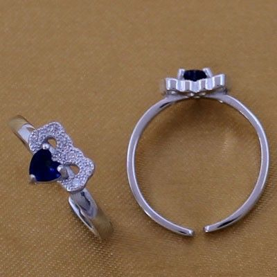 Indian Silver Stones Toe Rings