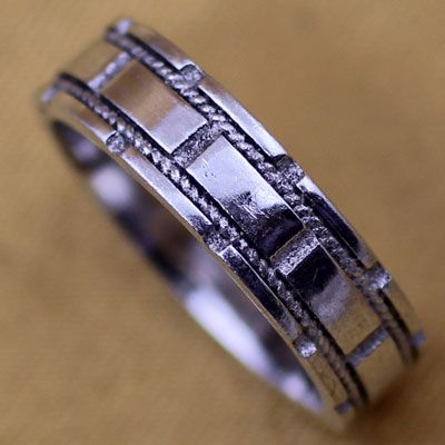 Double Line Silver Sterling Rings