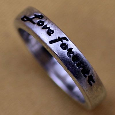 Sterling Silver Message Rings