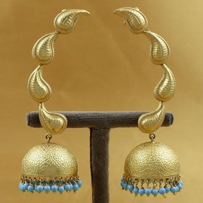 Handcrafted Silver Pearl Jhumka