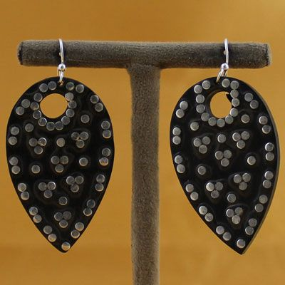 Pure Silver Wooden Earring