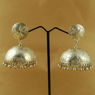 Traditional Sterling Silver Jhumka
