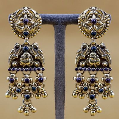Gold Plated Silver Ganesha Earring