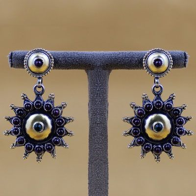 Indian Silver Earring With Stones
