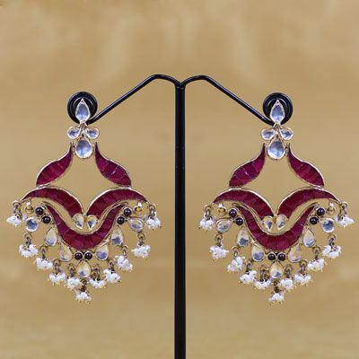 Pure Sliver Stone Earring