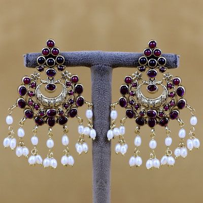 Pure Stone &Pearl Silver Earring