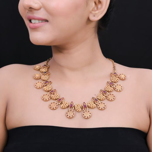 Traditional Silver Stones Necklace