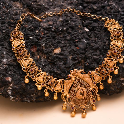 Gold Polish Traditional Silver Necklace