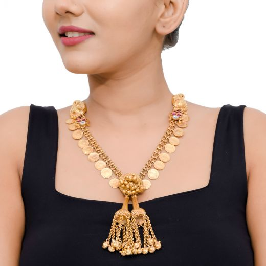 Gold Plated Silver Necklace With Kemp Stones