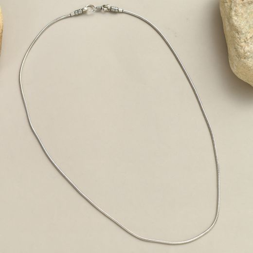 Snake silver chain (34 inch)