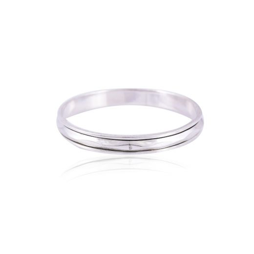 Smooth Hammered silver bangle