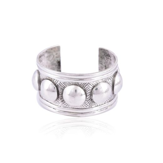 Sterling silver bangle in dotted design
