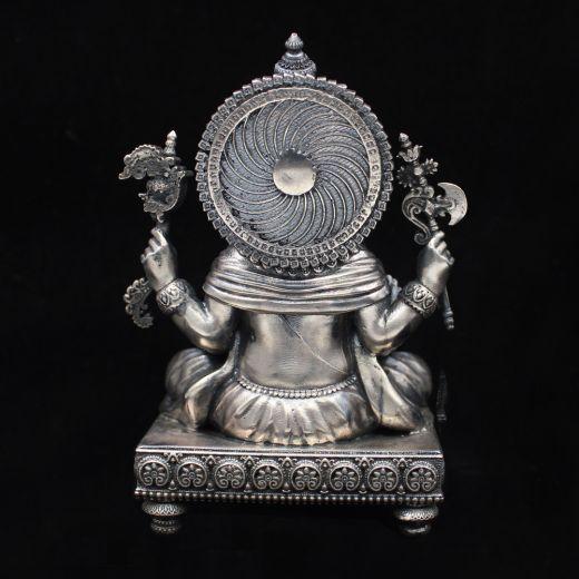 Lord Ganesha silver idol