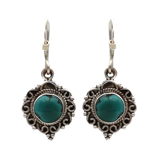 925 Sterling Silver Earrings With Beautiful Stone.