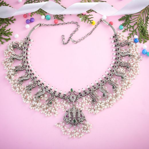 Temple Silver Necklace Jewellery