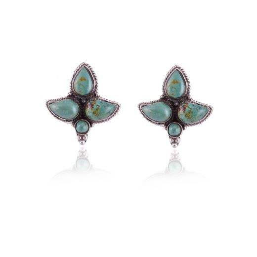 Silver earring in turquoise stone